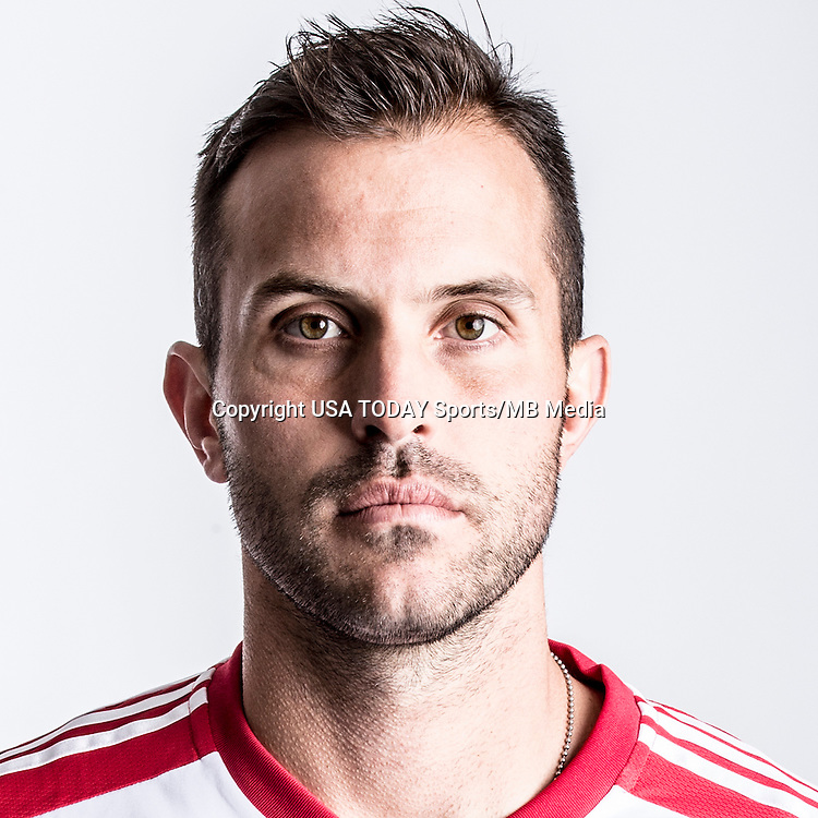 Feb 25, 2016; USA; New York Red Bulls player Kyle Reynish poses for a photo. Mandatory Credit: USA TODAY Sports
