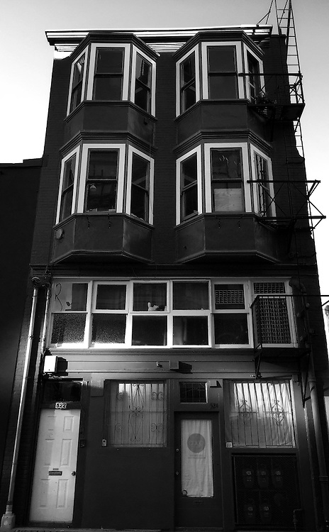 Classic turn of the century building on Shanghai Alley in Vancouver's Chinatown <br />
