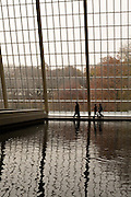 The pool at the Temple of Dendur at the Metropolitan Museum of Art.