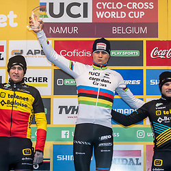 22-12-2019: Cycling: CX Worldcup: Namur: Mathieu wins in Namur, Toon Aerts finished second and is the new leader in the GC . Corene van Kessel take the third place