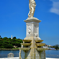 Sculptures Along Canal de Entrada in Havana, Cuba<br />