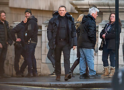"© Licensed to London News Pictures. 31/05/2015. London, UK. . Filming for the new James Bond film ""Spector"" with Daniel Craig at night around Trafalgar Square in Westminster, London . Photo credit: Ben Cawthra/LNP"