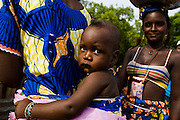 Mother and children in the village of Gidan-Turu, northern Ghana on Thursday March 26, 2009..