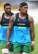 Blues captain Jerome Kaino during a Blues Super Rugby pre season training session at Alexandra Park in Auckland, New Zealand. Tuesday 2 February 2016. Copyright Photo: Andrew Cornaga / www.Photosport.nz