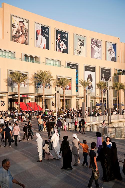 Dubai Mall, in front of the Burj Khalifa, Dubai, UAE on Friday, February 12, 2010.