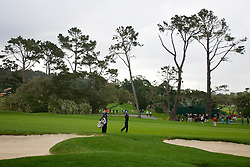 February 12, 2010; Pebble Beach, CA, USA; Padraig Harrington hits a shot on the fourth hole during the second round of the AT&T Pebble Beach Pro-Am at Pebble Beach Golf Links.