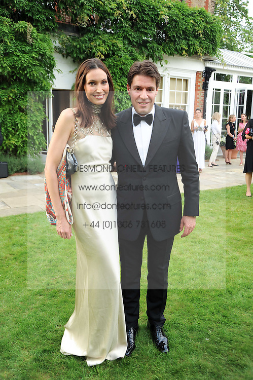 Klara Oberg and Francois Graff  at the Raisa Gorbachev Foundation Party held at Stud House, Hampton Court Palace on 5th June 2010.  The night is in aid of the Raisa Gorbachev Foundation, an international fund fighting child cancer.