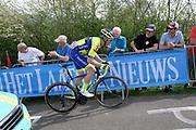 WB Aqua Protect Veranclassic rider, Dimitri Peyskens (Bel) on the Côte de la Redoute climb during the 2018 Liège-Bastogne-Liège elite men's race on Sunday 22 April 2018.