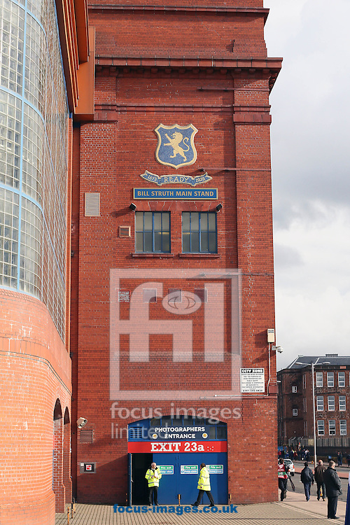 Ibrox Stadium during the UEFA Euro 2016 Qualifying match at Ibrox Stadium, Glasgow<br /> Picture by Ian Buchan/Focus Images Ltd +44 7895 982640<br /> 11/10/2014
