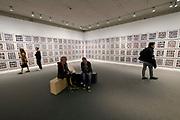 Kassel, Germany. Opening days of documenta14.<br /> Stadtmuseum Kassel.<br /> Hans Eijkelboom: Photo Notes, 1992-2017