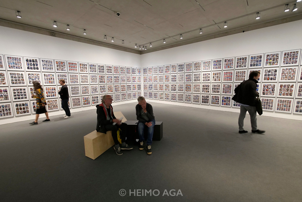 Kassel, Germany. Opening days of documenta14.<br /> Stadtmuseum Kassel.<br /> Hans Eijkelboom: Photo Notes, 1992-2017