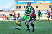 Forest Green Rovers Dayle Grubb(8) controls the ball during the EFL Sky Bet League 2 match between Morecambe and Forest Green Rovers at the Globe Arena, Morecambe, England on 17 February 2018. Picture by Shane Healey.