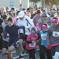 Hundreds of people came out Saturday to run and support the Hope Continues 5k for Breast Cancer