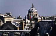 France. Paris. elevated view. the val de Grace coupole and paris roofs  , view from Saint Sulpice   Grace