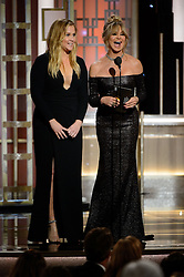 Jan 8, 2017 - Beverly Hills, California, U.S - AMY SCHUMER and GOLDIE HAWN present the Golden Globe for BEST ACTOR - MOTION PICTURE, MUSICAL OR COMEDY at the 74th Annual Golden Globe Awards at the Beverly Hilton in Beverly Hills, CA on Sunday, January 8, 2017. (Credit Image: ? HFPA/ZUMAPRESS.com)