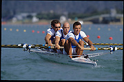 Sydney, AUSTRALIA, ITA M4- Silver  Medalist, bow, Valter MOLEA, Riccardo DEI ROSSI, Lorenzo CARBONCINI  and Carlo MORNATI (s) 2000 Olympic Regatta, West Lakes Penrith. NSW.  [Mandatory Credit. Peter Spurrier/Intersport Images] Sydney International Regatta Centre (SIRC) 2000 Olympic Rowing Regatta00085138.tif