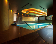 Swimming pool in a modern villa