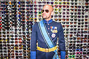 Hollywood, California - April 10, 2015: Grand Duke Travis of WestArctica stops for a portrait during a pre-MicroCon 2015 tour of the Hollywood Walk of Fame, Friday April 10, 2015. <br /> <br /> The claimed territory of WestArctica is the Marie Byrd Land of Antarctica, which is 1/8th of the continent. Last year Grand Duke Travis (Travis McHenry) registered WestArctica as a non-profit. It&rsquo;s mission is to bring attention to climate change's impact on Antarctica's ice sheets and advocate for the local penguin population. Grand Duke Travis founded WestArctica November 2, 2001 while he was in the Navy as an Intelligence Specialist. His advocacy work with WestArctica led him to speak with dignitaries from other countries. The Navy found out, and gave him an ultimatum. So, his work with WestArctica took a backseat until he was honorably discharged in 2008. Since then he established a second micronation, Calsahara. It's a swath of land in the high plains of the California Valley, which his ex-wife&rsquo;s family owns. After Travis came out as gay, he and his wife divorced. While Travis and his ex-wife remain on good terms, according to Travis, her family is not interested in handing over their land to Travis. He did, however, name their son Nicholas, King of CalSahara, and Travis is CalSahara's &quot;Dictator for Life.&quot;<br /> <br /> CREDIT: Matt Roth