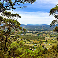 Hartley Valley West View from Mount York near Mount Victoria in Blue Mountains, Australia<br />