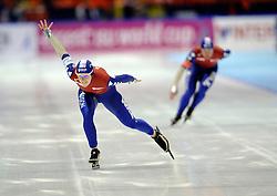 23-02-2008 SCHAATSEN: FINALE ISU WORLD CUP: HEERENVEEN<br /> Ireen Wust<br /> ©2008-WWW.FOTOHOOGENDOORN.NL