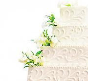 Wedding Cake Detail in White