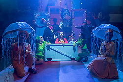 """© Licensed to London News Pictures. 23/11/2018. LONDON, UK. The cast perform during the photocall for Immersion Theatre's performance of """"Seussical the Musical"""" at Southwark Playhouse.  Shows take place 22 November to 29 December 2018.  Directed by James Tobias, the fantastical world of Dr. Seuss is brought to life in a musical co-conceived by Monty Python's Eric Idle.  Photo credit: Stephen Chung/LNP"""