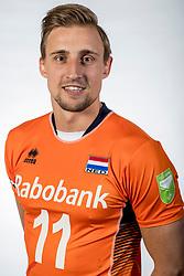 10-05-2017 NED: Selectie Nederlands volleybal team mannen 2017, Arnhem<br /> Op Papendal werd de selectie gepresenteerd / Robin Overbeeke #11
