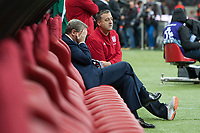 Football - World Cup 2014 Qualifier - Poland vs. England<br /> Roy Hodgson, England manager looks dejected in the dug out at the National Stadium, Warsaw