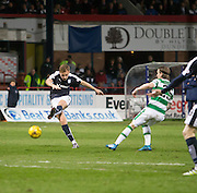 Dundee&rsquo;s Greg Stewart fires in a shot - Dundee v Celtic, Ladbrokes Scottish Premiership at Dens Park<br />  <br />  - &copy; David Young - www.davidyoungphoto.co.uk - email: davidyoungphoto@gmail.com