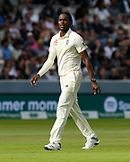 Jofra Archer of England during the International Test Match 2019 match between England and Australia at Lord's Cricket Ground, St John's Wood, United Kingdom on 18 August 2019.