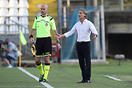 Genoa's Italian Head coach Davide Nicola reacts on the touchline during the Serie A match at Stadio Mario Rigamonti, Brescia. Picture date: 27th June 2020. Picture credit should read: Jonathan Moscrop/Sportimage