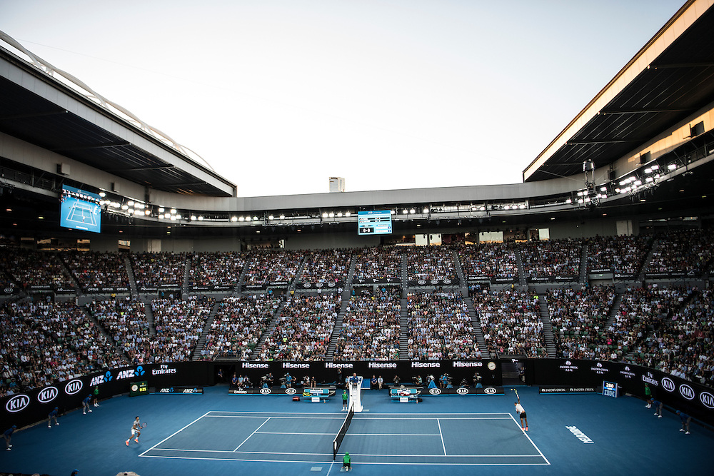 A general view of Rod Laver Arena on day twelve of the 2017 Australian Open at Melbourne Park on January 27, 2017 in Melbourne, Australia.<br /> (Ben Solomon/Tennis Australia)
