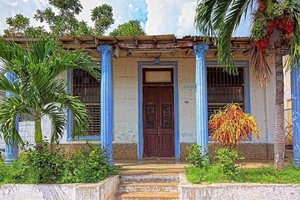 A house in San Cristobal, Artemisa, Cuba.