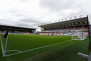 General view of Turf Moor during the Premier League match between Burnley and Brighton and Hove Albion at Turf Moor, Burnley, England on 26 July 2020.