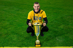 Almin Kurtovic during celebration of NK Bravo, winning team in 2nd Slovenian Football League in season 2018/19 after they qualified to Prva Liga, on May 26th, 2019, in Stadium ZAK, Ljubljana, Slovenia. Photo by Vid Ponikvar / Sportida