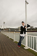 Tess posing as Morrissey on the Bournemouth pier in 2010