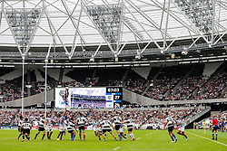 Samoa win a lineout - Mandatory byline: Rogan Thomson/JMP - 07966 386802 - 29/08/2015 - RUGBY UNION - The Stadium at Queen Elizabeth Olympic Park - London, England - Barbarians v Samoa - International Friendly.