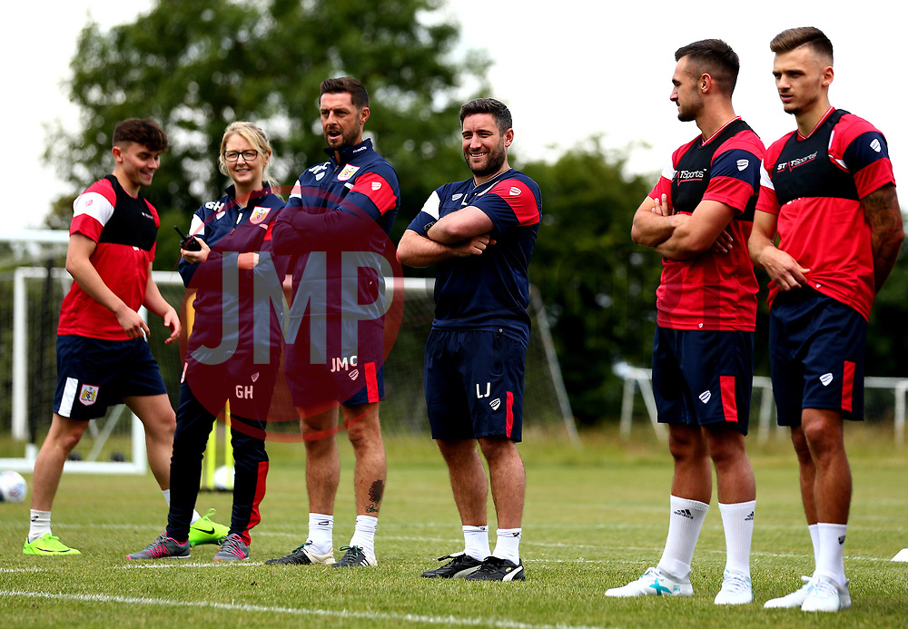 Bristol City head coach Lee Johnson smiles as Bristol City return to training ahead of their 2017/18 Sky Bet Championship campaign - Mandatory by-line: Robbie Stephenson/JMP - 30/06/2017 - FOOTBALL - Failand Training Ground - Bristol, United Kingdom - Bristol City Pre Season Training - Sky Bet Championship