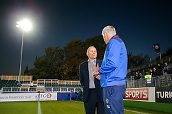 Bristol Rugby Director of Rugby Andy Robinson chats to Bath Rugby Director of Rugby Todd Blackadder - Rogan Thomson/JMP - 20/10/2016 - RUGBY UNION - The Recreation Ground - Bath, England - Bath Rugby v Bristol Rugby - EPCR Challenge Cup.