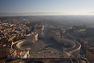 A view from the Vatican on a hazy morning
