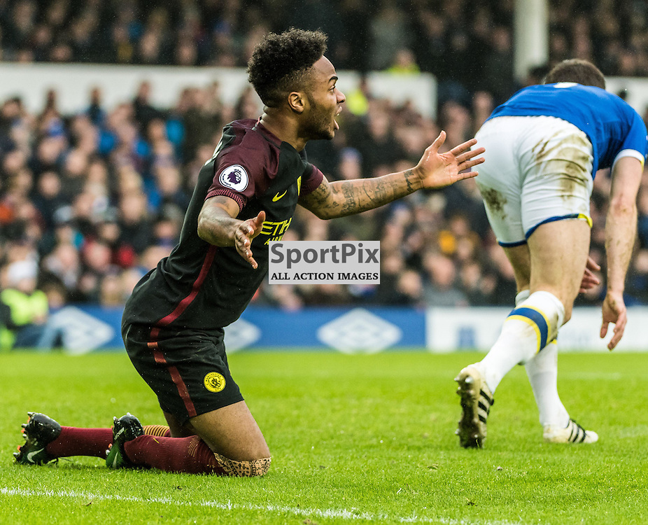 Manchester City midfielder Raheem Sterling (7)) in the Premier League match between Everton and Manchester City<br /> <br /> (c) John Baguley | SportPix.org.uk