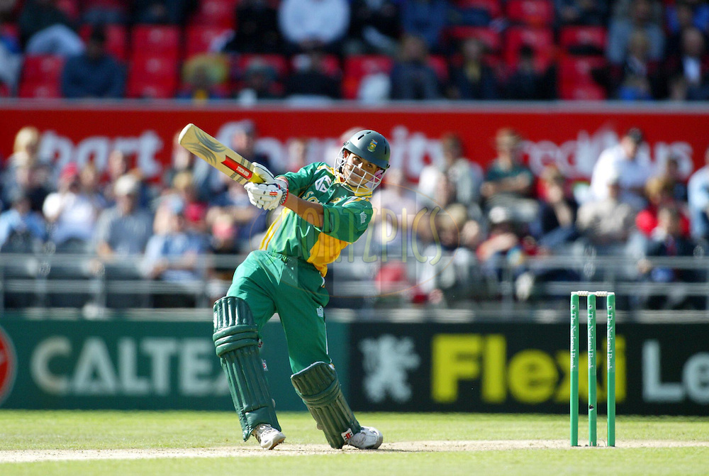 17 February 2004. New Zealand vs South Africa International one day cricket at Jade Stadium, Christchurch, New Zealand. Match 2 in series of 6..Jacques Rudolph..Please credit: Andrew Cornaga/Photosport