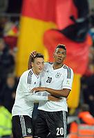 Fotball<br /> Tyskland v Irland<br /> VM-kvalifisering<br /> 11.10.2013<br /> Foto: Witters/Digitalsport<br /> NORWAY ONLY<br /> <br /> 3:0 Jubel v.l. Torschuetze Mesut Oezil, Jerome Boateng (Deutschland)<br /> Fussball, WM-Qualifikation, Deutschland - Irland