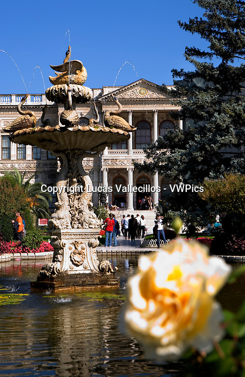 Gardens of Dolmabahce Palace, Istanbul, Turkey
