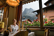 Hotel Gletschergarten, Grindelwald, Switzerland, the Alps, Europe. For licensing options, please inquire.