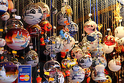 Brightly-coloured baubles for sale in a Munich Christmas Market