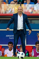MOSCOW, RUSSIA - Saturday, June 16, 2018: Argentina's head coach Jorge Sampaoli during the FIFA World Cup Russia 2018 Group D match between Argentina and Iceland at the Spartak Stadium. (Pic by David Rawcliffe/Propaganda)
