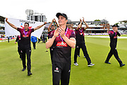 Tom Abell of Somerset and his teams doing a victory parade around the outfield after winning the One Day Cup during the Royal London 1 Day Cup Final match between Somerset County Cricket Club and Hampshire County Cricket Club at Lord's Cricket Ground, St John's Wood, United Kingdom on 25 May 2019.