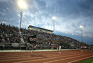 The crowd was pumped up after the opening kickoff was returned for a touchdown during the game between Cedar Rapids Kennedy and Linn-Mar at Linn-Mar Stadium in Marion on Friday evening, September 2, 2011. It was 35-7 Linn-Mar at halftime.