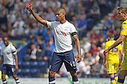 Preston Striker Jermaine Beckford during the Sky Bet Championship match between Preston North End and Leeds United at Deepdale, Preston, England on 7 May 2016. Photo by Pete Burns.